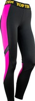 Leggings TOP TEN Allenamento Nero/Rosa